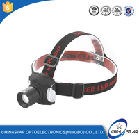Welcome OEM/ODM high light range t6 led rechargeable headlamp