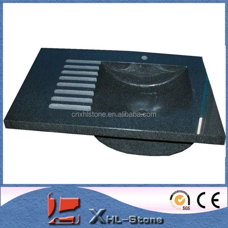 China Granite One Piece Bathroom Sink And Countertop
