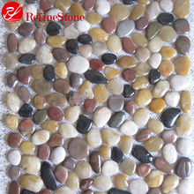 Factory price construction material pebble mosaic supplies,pebble mosaic tile