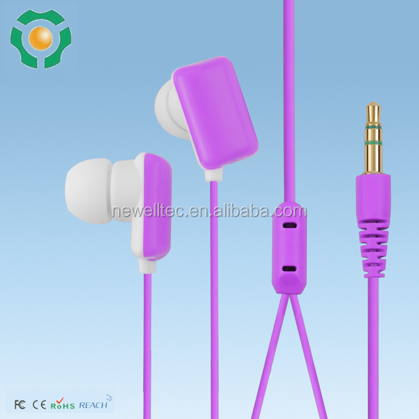 Kids custom shaped earphones promotional cheap colorful mobile earphone