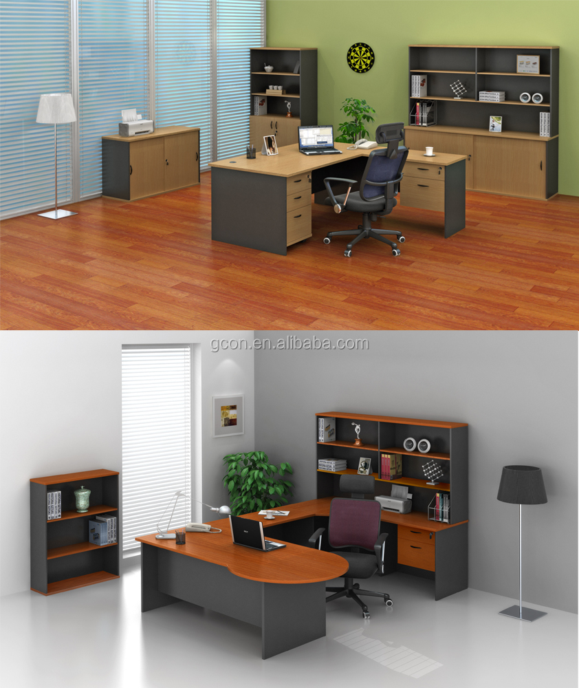 round executive office desk/free style combination
