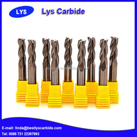 Factory Price CNC Solid Carbide Roughing End Mills For Wood Cutting