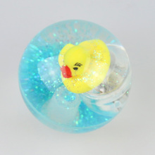 cute 3D floating ducks water rubber bouncing balls skip balls jumping balls