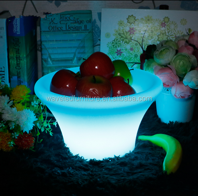 Best selling disposable acrylic fruit tray led serving tray with CE certifications