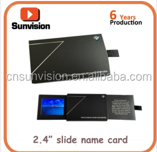 "Sunvision fork art fold thin paper 2.4"" 4.3"" LCD business name card company event advertising LCD player business"