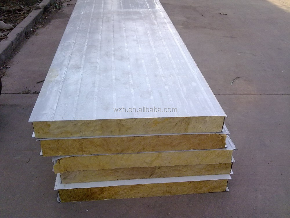 rockwool sandwich panel /glasswool sandwich panel manufacturer in shanghai