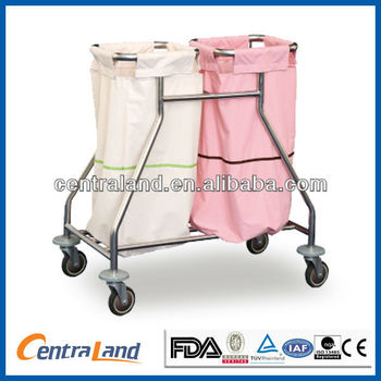 Hospital Divided Waste Trolley