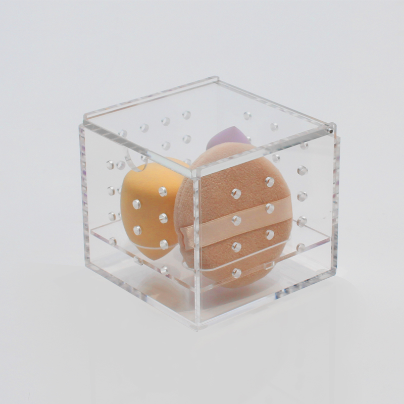 Clear Acrylic Makeup Egg Storage Box  Custom