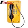 KNTECH Wall Mounted Waterproof IP66 Industrial Telephone with Handset and Keypad for Emergency Use