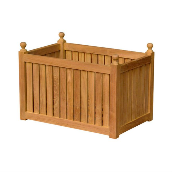 Teak Garden Furniture - Rectangular Planter