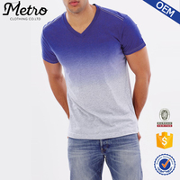 Wholesale Latest Style Men's Casual V-neck Blank T-shirt