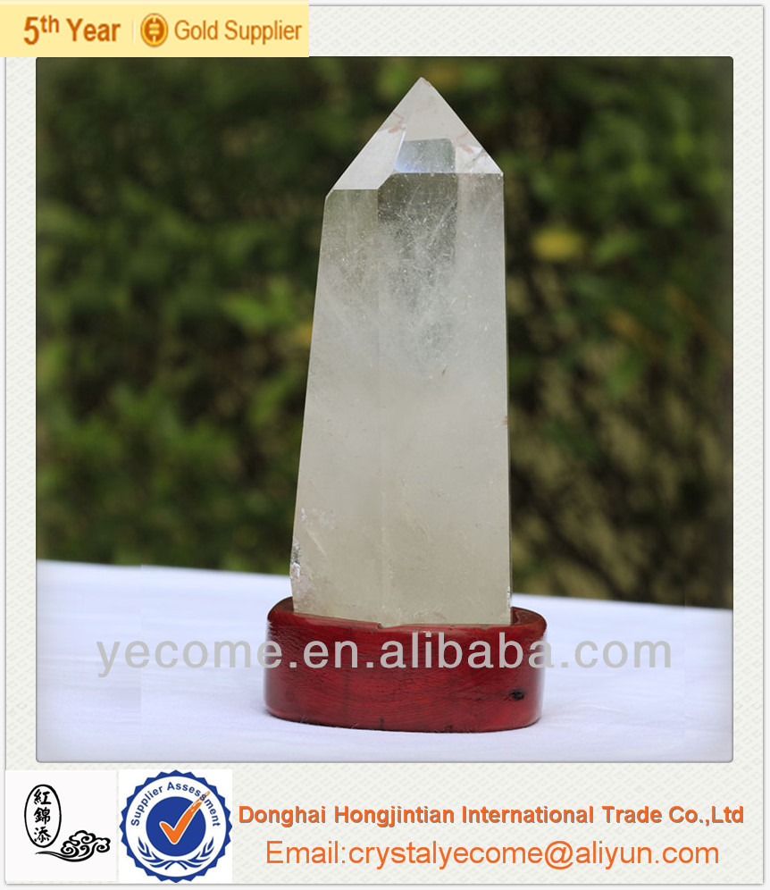 Natural clear quartz rock crystal points,clear rock crystal prism drop, healing clear quartz one point