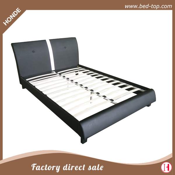 China Wholesale faux leather bed high quality twin PU/PVC bed for adults