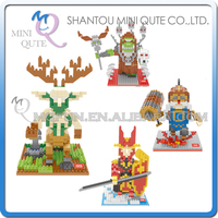 Mini Qute Wise hawk 4 styles Game monster boys collection model plastic building block brick boys kids educational toy