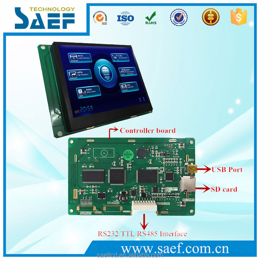 "4.3""industrial tft lcd RS232 / TTL UART serial Interface module 480x272 LCD display"