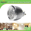 BRIMAX ce rohs SAA approved Warm White Cool White LED Spotlight GU10 6W