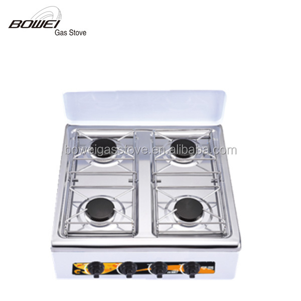 Commercial table top 4 burners cook stove gas cooker