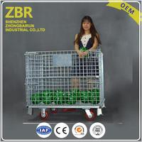 Foldable stacking metal wire mesh securitystorage cage