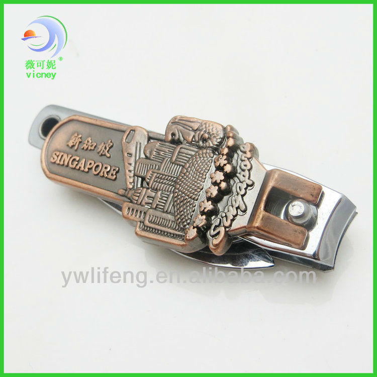Cheap fancy engraved souvenire multi function nail clipper