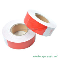 red&white color high visibility hazard warning reflective tapes
