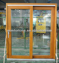 Europe style wood lift and sliding door with double tempered glass