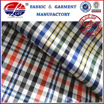 DF 5045 yarn dyed check shirting fabric