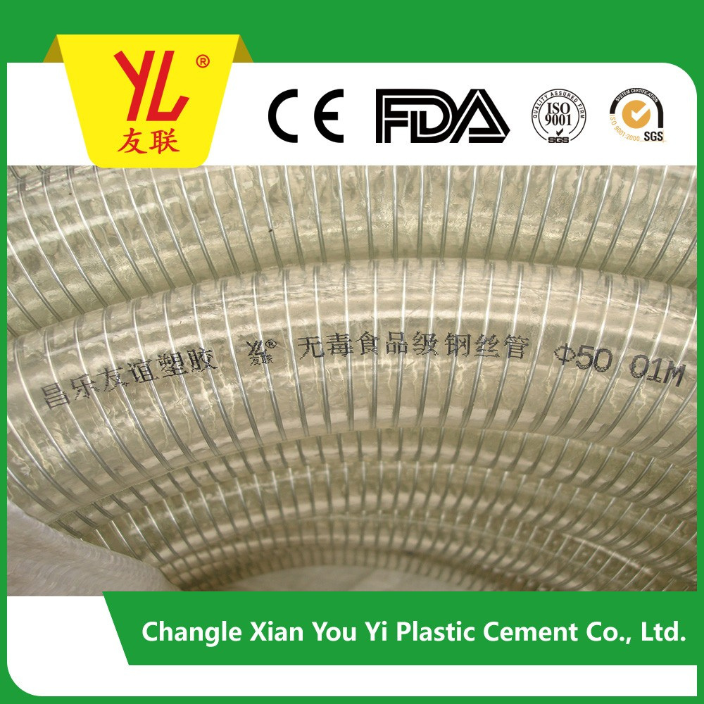 China manufacture PVC water suction flexible pvc suction hose pipe new type and gardening pvc water