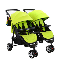China OEM new trending Detachable double children baby born tweeling kinderwagen stroller baby pram tricycle for twins