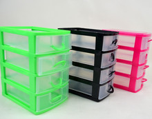 Hot salling 4 layers plastic drawer/ mini storage container