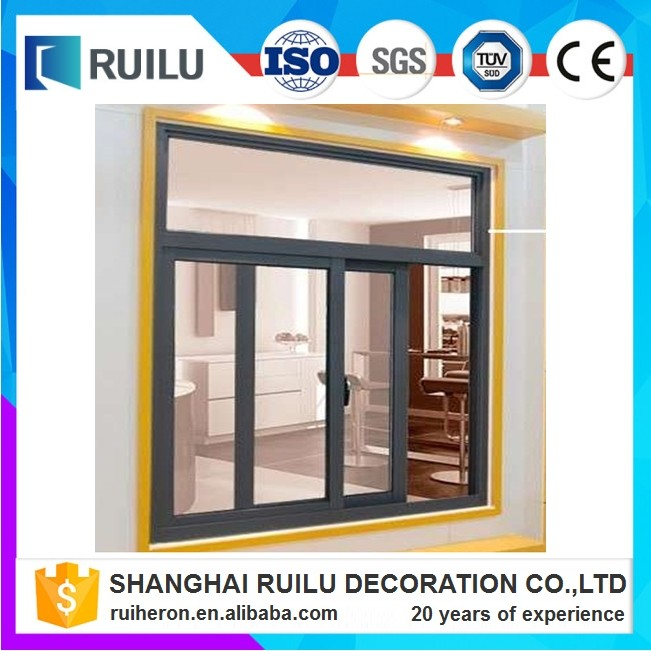 Unique design powder coating aluminium sliding glass window and frame parts