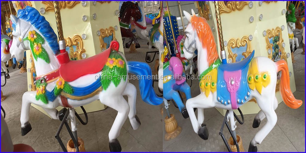 amusement park playground kiddie musical carousel horse for sale