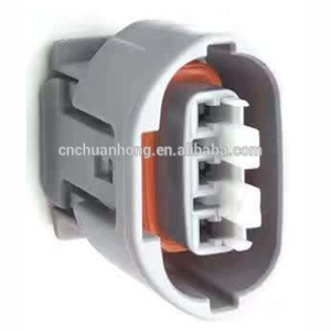 3 Pin Female Automobile Connector Housing Gray