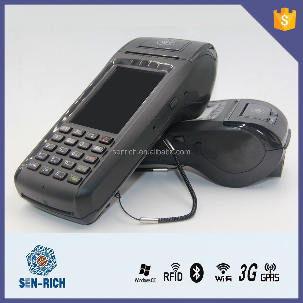 Handheld RFID POS ET6000 with Fingerprint,MSR,WIFI,Bluetooth,Printer