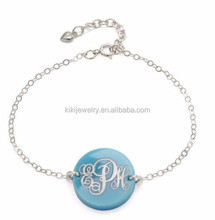 China Supplier Metal Alloy Enameled Pendant Providence Monogram Bracelet Jewelry