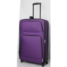 polyester purple travel trolley luggage bag for holiday