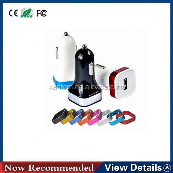 Design Colorful Portable 3100ma Dual Usb Cell Phone Car Charger For Samsung / Htc / Lg Charger
