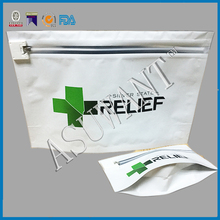 Zip lock stand up foil medical marjuana industry use child proof bag