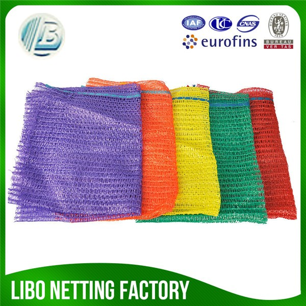 plastic raschel mesh bag for onions potatos factory