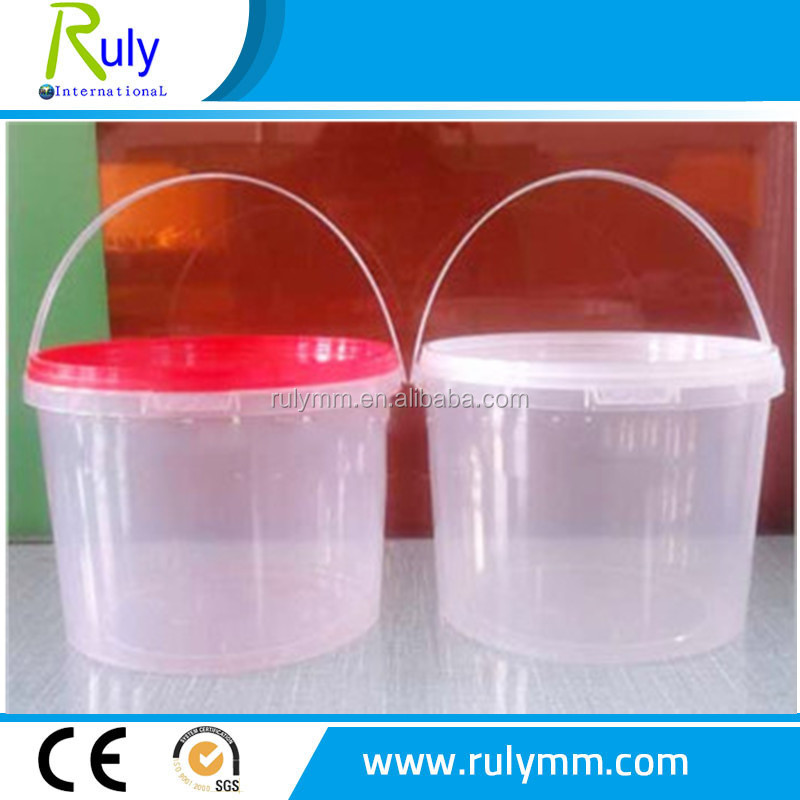 3Litre clear/transparent round plastic buckets used for Candy packing can print your own logo