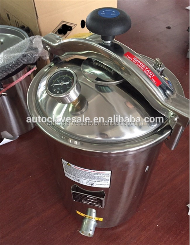 Rapid efficient PA-NM portable pressure steam sterilizer that electric or LPG heated 12liter mini autoclave