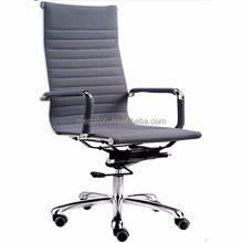 high back swivel office chair with wheels grey office chair(FOH-F11-A05)
