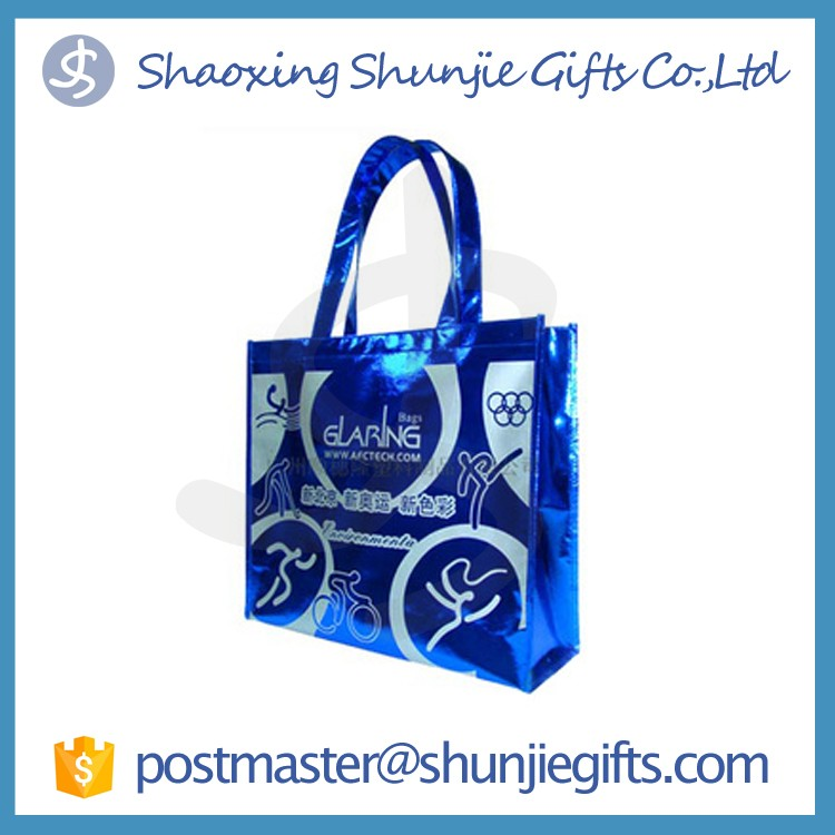 Fashion design promotional gift custom logo recyclable pp non woven bag