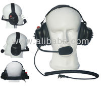 racing headset aviation headset heavy duty headset FOR KENWOOD 2 PIN RADIOS
