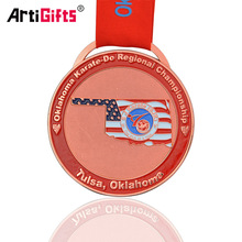 Promotional metal beautiful custom trophies and medals china