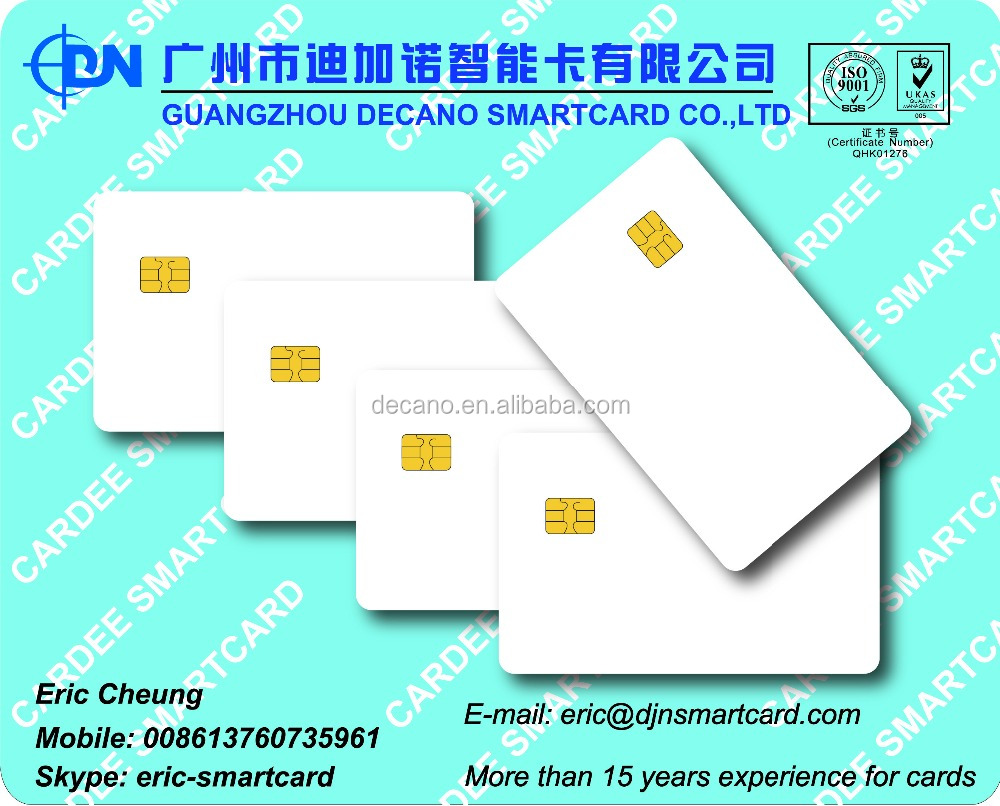 PVC blank and printing SLE4442 Contact IC card