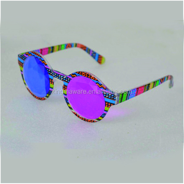 Emazing Light kaleidoscope glasses with red blue glass lens
