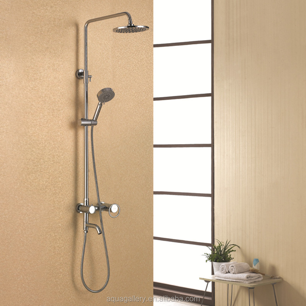 Modern Wall Mounted Rainfall Shower Faucet with Tub Filler