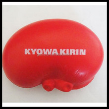 pu foam kidney shaped stress reliever toy