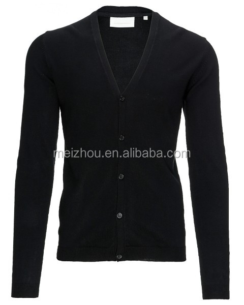 V Neck Shawl Collar Cardigan Unique Mens Sweaters (men sweater 23)