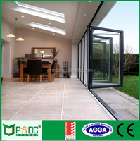 High quality aluminum accordion folding door with CE/AS2047 certificates